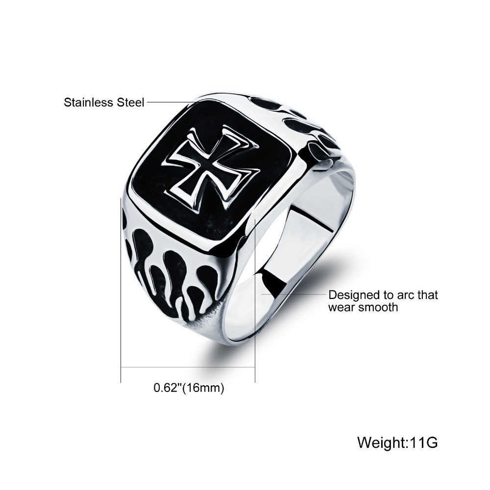 Classic-Mens-Silver-Plated-Black-Cross-Rings-Top-Quality-316L-Stainless-Steel-Biker-Ring-Men-Jewelry (1)
