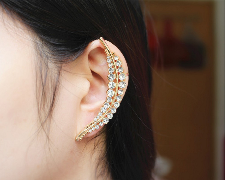 2017 New style fashion set leaves earpins ears hang, suitable for all kinds of club wearing the gift to women