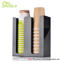 1 stück Neue Kunststoff-wasserspender Zwei Stehen Papier Cups Rack Kaffee Tee Shop Ausrüstung Bar Werkzeuge
