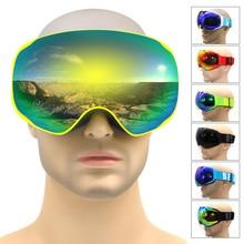 Professional font b ski b font goggles double lens anti fog UV400 big font b ski
