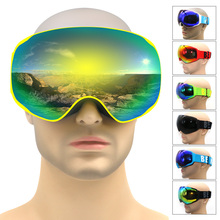 Professional ski goggles double lens anti-fog UV400 big ski glasses ski snowboard men women snow goggles ski mask