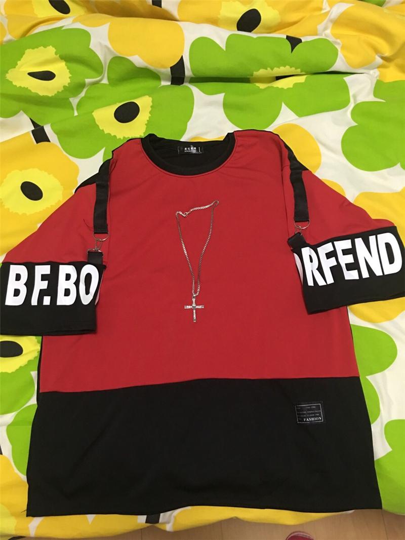 Hip Hop T Shirt Harajuku Streetwear Man's T-shirt Korean Half Anime Shirt Teen Clothes Black Shirt Free gift 14