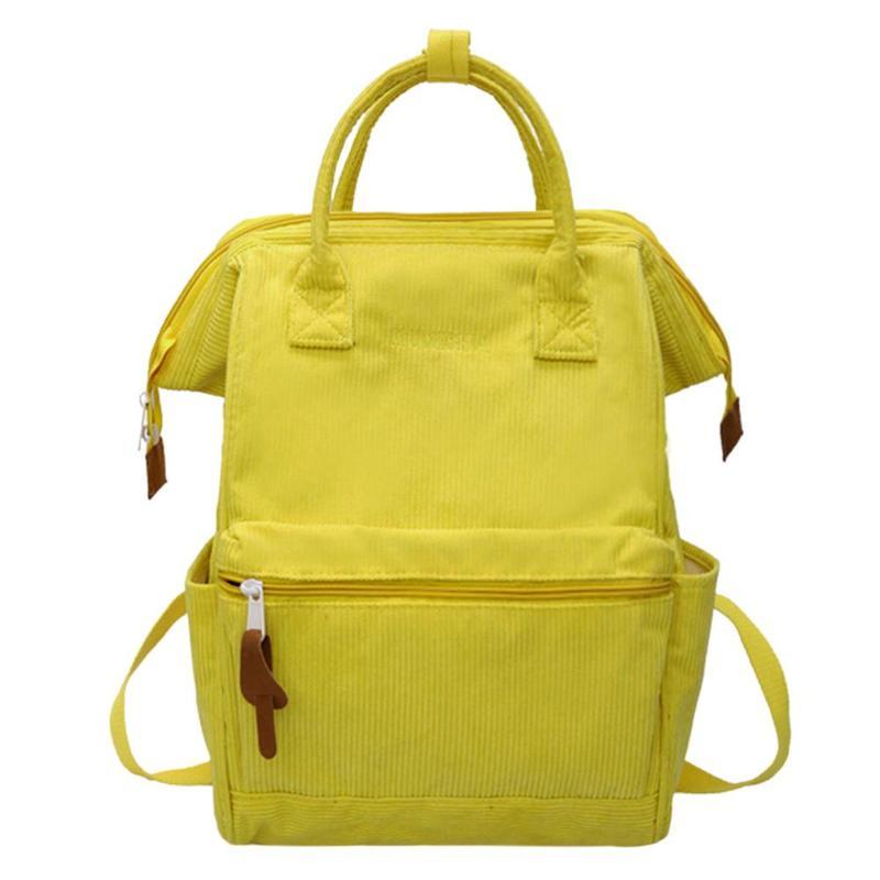 HTB1nlKEaBv0gK0jSZKbq6zK2FXaF Corduroy Backpacks For Women 2019 Mochila Fashion Winter Casual Style Ladies Solid Color Back Pack Female Teen Girls School Back