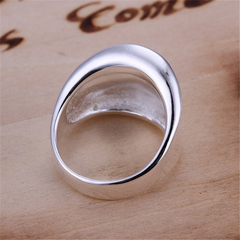 R52 Christmas gift free shipping wholesale Fashion Thumb smooth silver color ring high quality fashion classic Jewelry 3