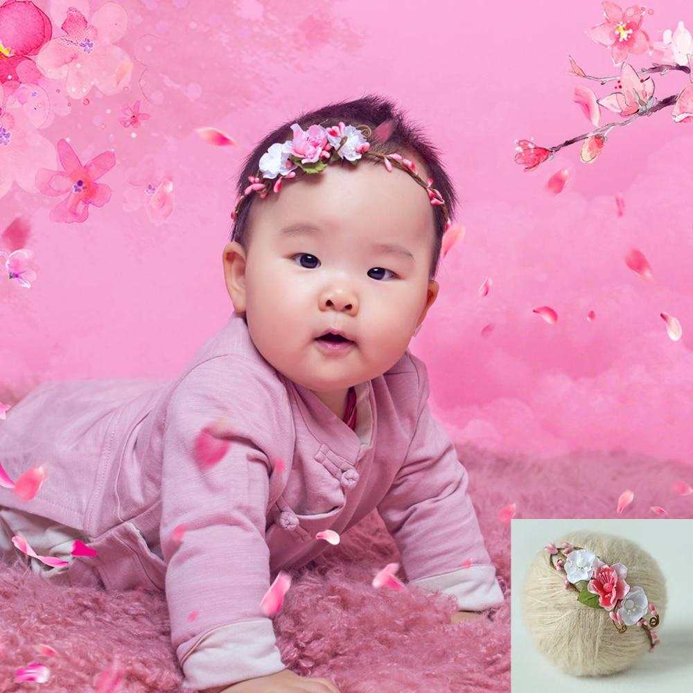 5 COLORES hechos a mano Bebé recién nacido Diadema Recién nacido - Ropa de bebé