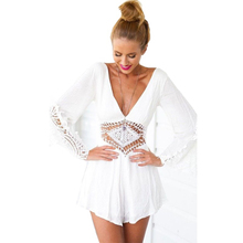 Jumpsuit Rompers Dress Summer V Neck Elegant Lace Beach