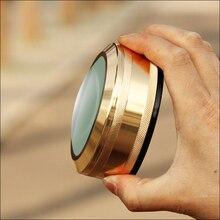 90 мм диаметр 40 мм высокая металлическая позолоченная бронза пресс-папье увеличительное стекло купол