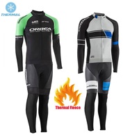 ORBEA Men Winter Thermal Fleece Cycling Jerseys Set Super Warm Pro Team Bicycle Clothing Suit Bike