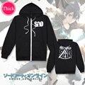 Sword Art Online SAO unisex Coat mens hoodies and sweatshirts Cosplay Costume boys clothes girls clothing Outwear Cartoon Tops