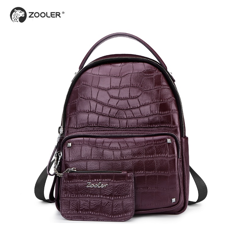 ZOOLER marque en cuir véritable sac à dos femmes école sacs à dos femme sac à dos en cuir pagback femmes sac sacs D110