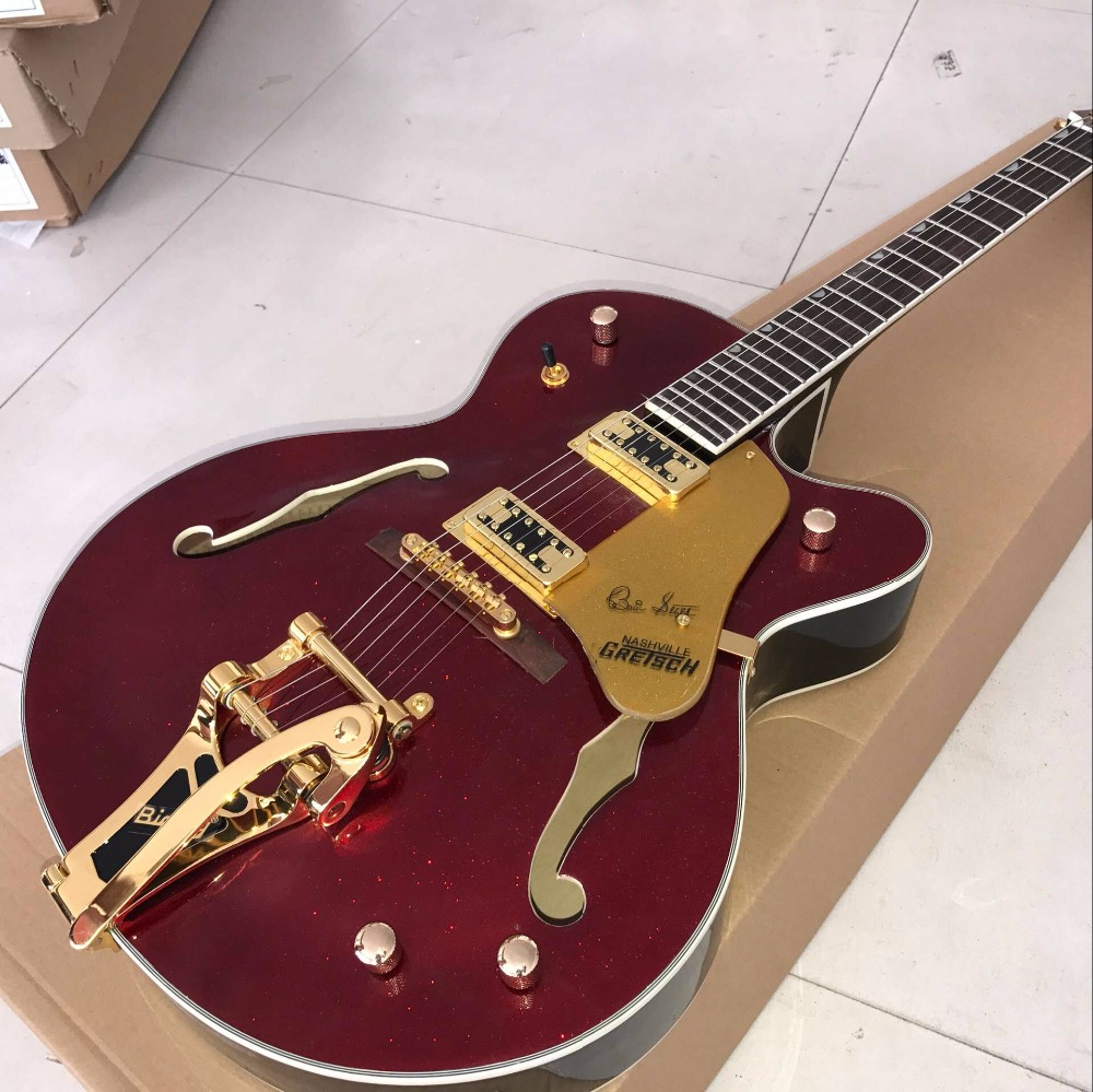 vicers top quality jazz electric guitar red guitar electric guitar hollow body jazz guitar. Black Bedroom Furniture Sets. Home Design Ideas