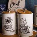 3 упаковки контейнеров для хранения еды с крышкой Ретро дизайн металлическая банка-идеальная канистра для сахарной чаши сервировочный чай  ...