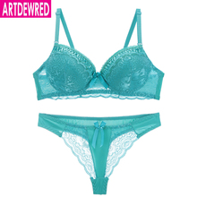 04681d142393 artdewred 2019 Sexy B C Women Thong Lace Hollow out Panty Underwear Bra  Brief Sets