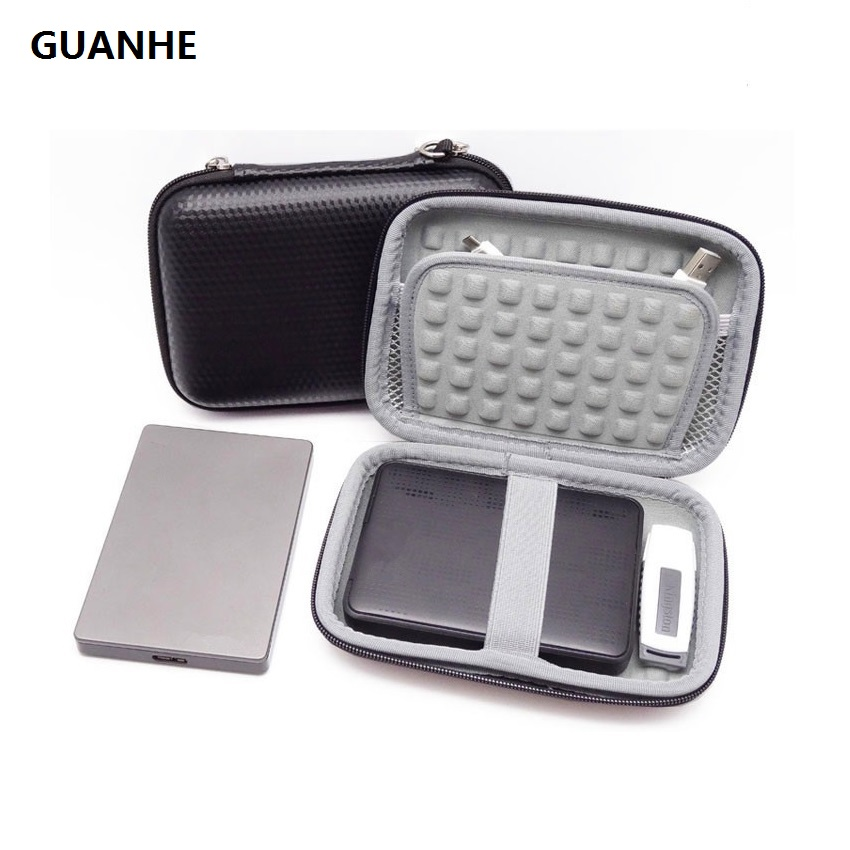 GUANHE External Hard Drive Case Bag Accessories Organizer Bag For 2.5 Inch Hard Drives,Estern Digital,Toshiba,Seagate,Power Bank