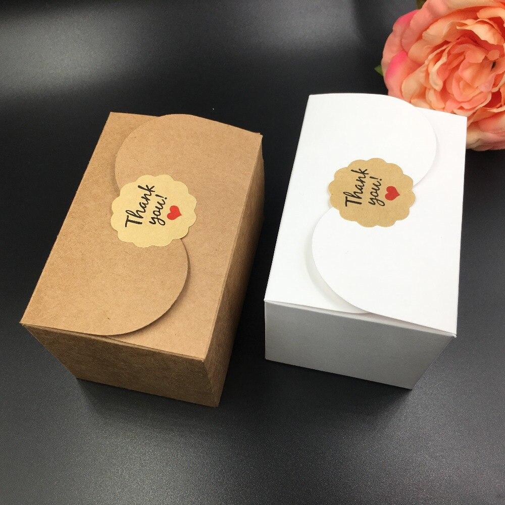 20 pçs/lote marrom Caixa de Embalagem Caixas De Papel Favor Do Presente DIY Sabão Cookies Frete grátis 9*6*6cm