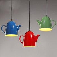 European Vintage Kettle Hanging Lamps Retro Teapot Pendant Lights Fixture Home Dining Room Cafes Pub Shops Restaurant Droplights