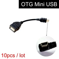 10 Pcs Mini USB OTG Cable For Car GPS Navigation System Android Smart Phone Samsung HTC