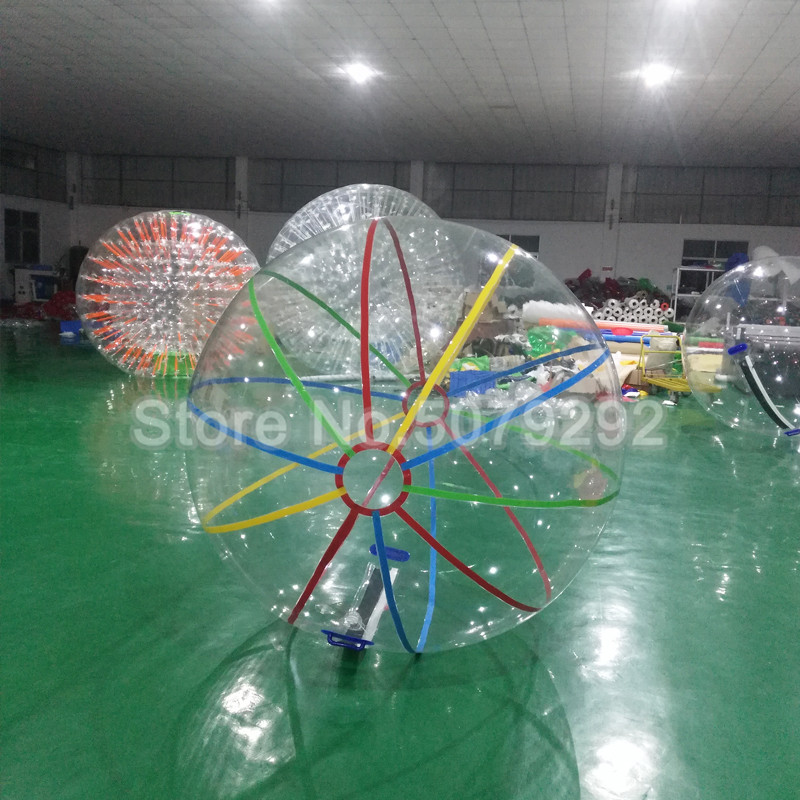 Free Shipping Inflatable Water Zorb Ball 1.5M/2M Dia Giant Water Walking Ball For Human Popular Pool Game Walk On Water Ball
