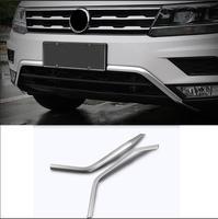 Lane Legend Case For VW VolkswagenTiguan L Mk2 2017 Front Bottom Bumper Molding Racing Grill Trim