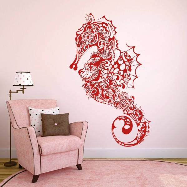 Seahorse Wall Art home decoration seahorse vinyl wall decal hippocampus fish sticker