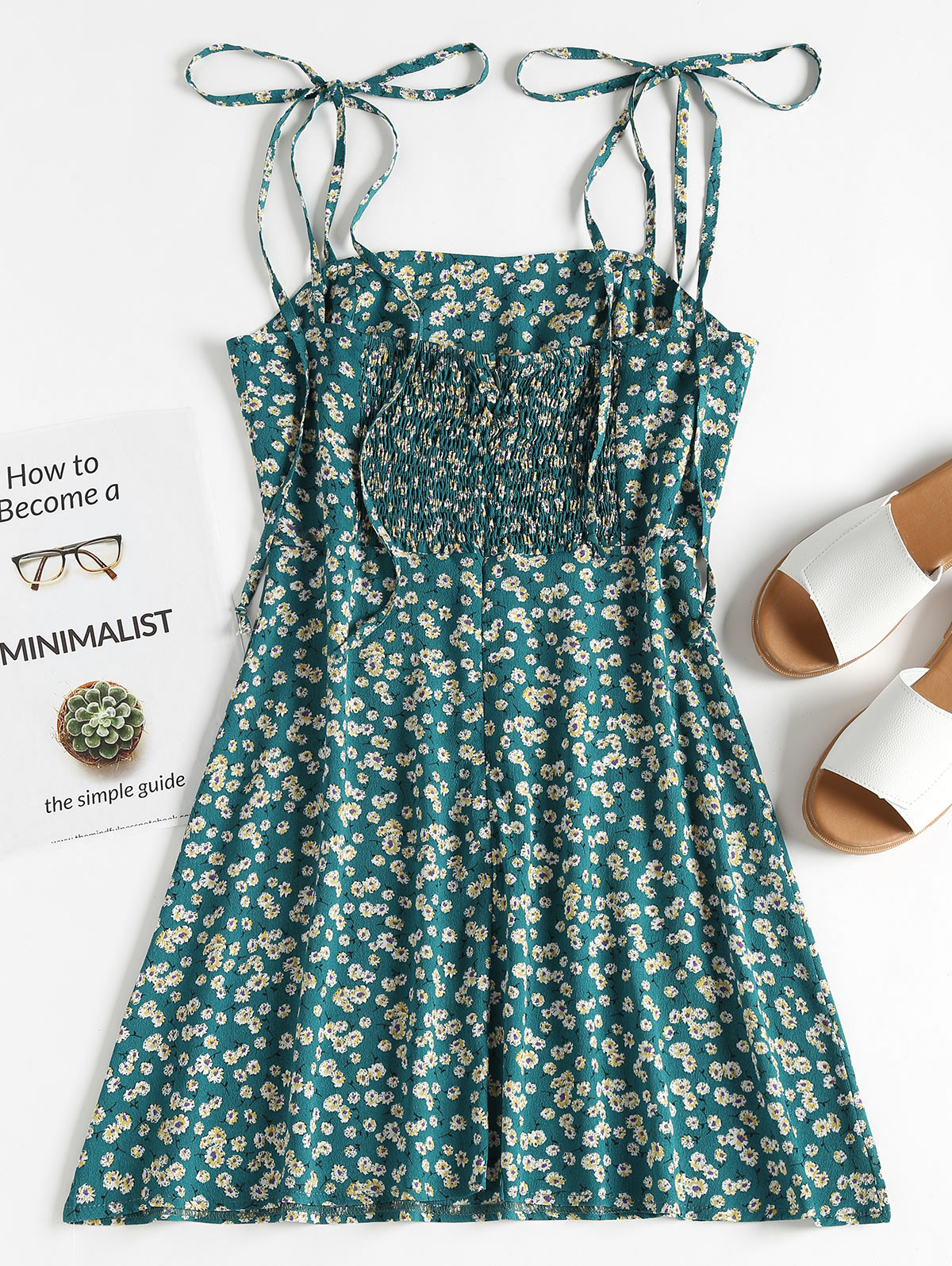 d03ebe889d5 Wipalo Boho Floral Tie Strap Apron Mini Sundress Green Prints Spaghetti  Strap Mini Dress Women Sundress Summer Dresses 2018 on Aliexpress.com