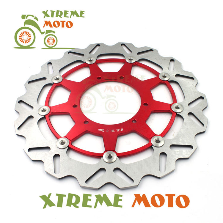 320MM Front Wavy Floating Brake Disc Rotor For Honda CR 125  250 500 CRF250X 250R 450R 230F 450X  Enduro Motocross Supermoto keoghs real adelin 260mm floating brake disc high quality for yamaha scooter cygnus modify