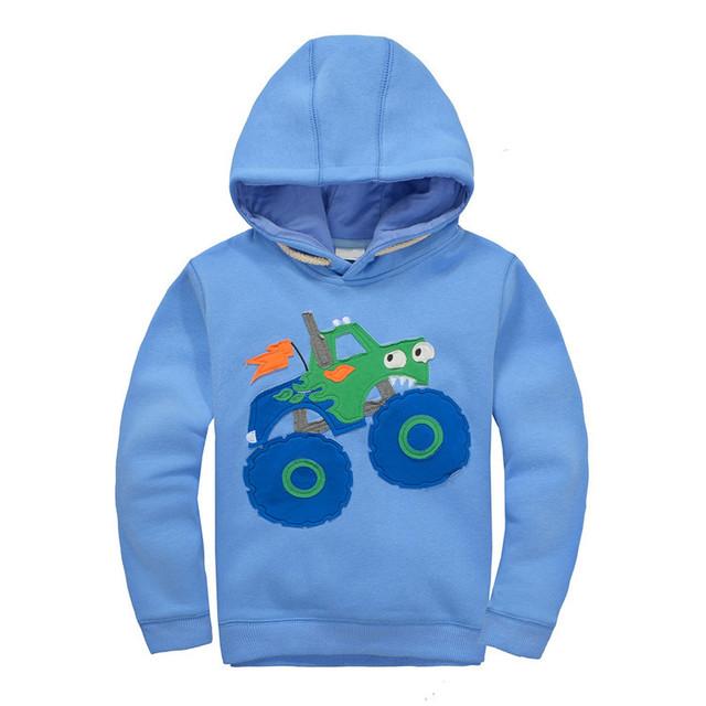 Bt-25, 6 unids/lote, coche, los niños los hoodies outwear, camisetas de manga larga para 1-7y, lana de algodón