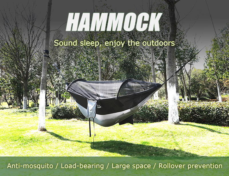 1 2 Person Outdoor Mosquito Net Parachute Hammock Camping Hanging Sleeping Bed Swing Portable Double Chair