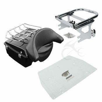 Motorcycle King Pack Trunk For Harley Touring Tour Pak Road King Electra Glide FLHR 1997-2008 2007 2006 motorcycle king pack latches for harley tour pak touring models electra road street glide 2006 2013