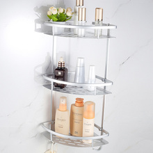 купить Space Aluminum Bathroom Shelf Shower Shampoo Soap Cosmetic Shelves Bathroom Accessories Storage Organizer Rack Holder дешево