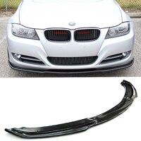 E90 H стиль стайлинга автомобилей Реальные углеродного волокна передняя губа протектор для BMW E90 LCI 2008 2011