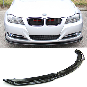 E90 H style Car Styling Real Carbon Fiber Front Lip Bumper Protector For BMW E90 LCI 2008-2011