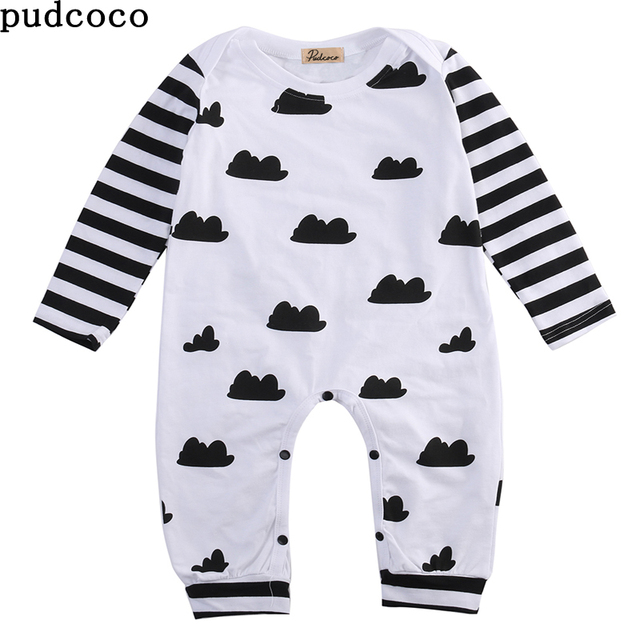992e704c5a35 2017 New Summer Autumn Spring Romper Baby Boy Girls Clothes long sleeve baby  Romper Sleepwear Pajamas Outfit Newborn baby cloth