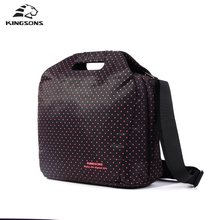 Kingsons Laptop Women Handbag Shockproof 14 Inch Notebook Computer Tote Briefcase Mutil Fuction Bag