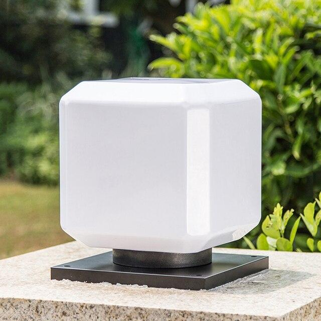 Platz Solar Saule Lampe Outdoor Zaun Wand Licht Haus Home Garten