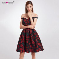2018 New Fashion Retro Off Shoulder Ever Pretty EP05947 Dresses Women's Flare Party Dresses Floral Print robe Cocktail Dresses
