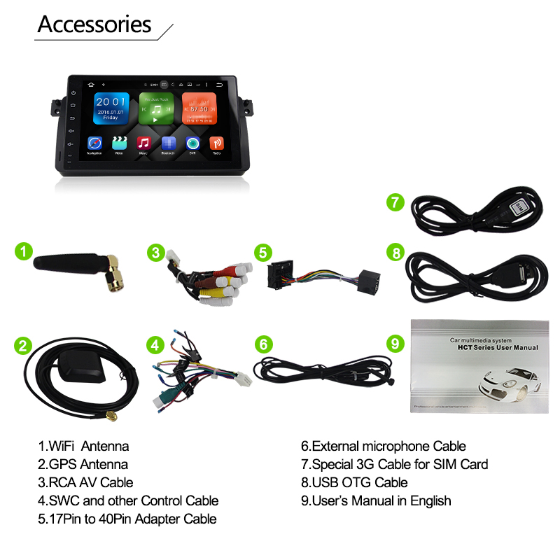 Eunavi 9'' 4G 64G 1 din Android 9.0 Octa Core Car radio for BMW E46 318 320 Car Radio DAB M3 3 series with WIFI Bluetooth DAB+