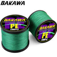 Cuerda trenzada de línea de pesca de carpas multifilamento de PE de 18 lb-80lb SuperPower de BAKAWA 1000 4 Strand