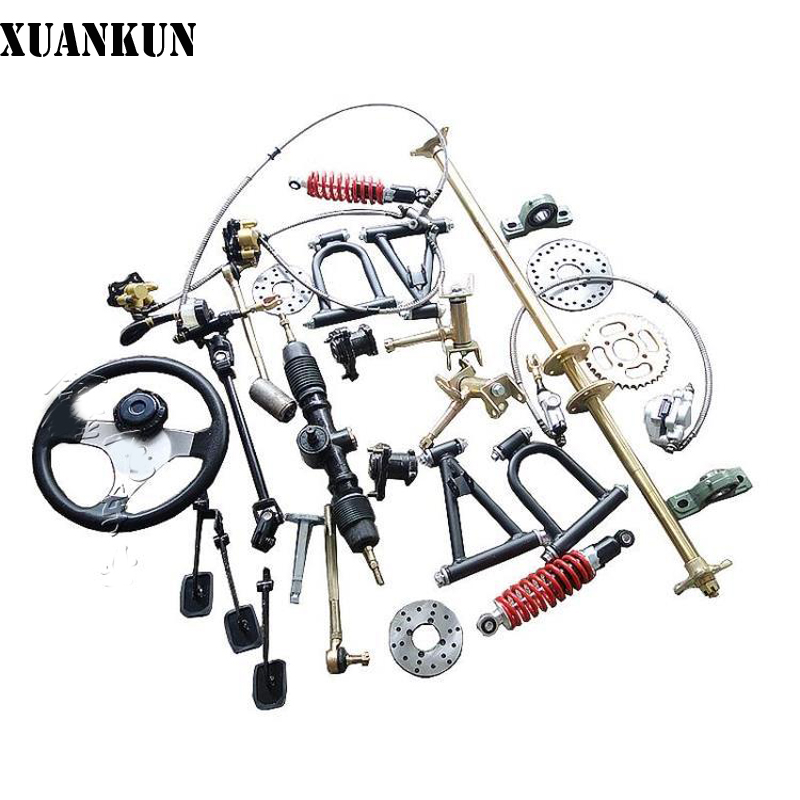 XUANKUN Modified Beach Car Karting Accessories Front Suspension Rear Axle Rear Axle Assembly Front And Rear Disc Brake tc02311010047 tc0231101004 the housing for front axle