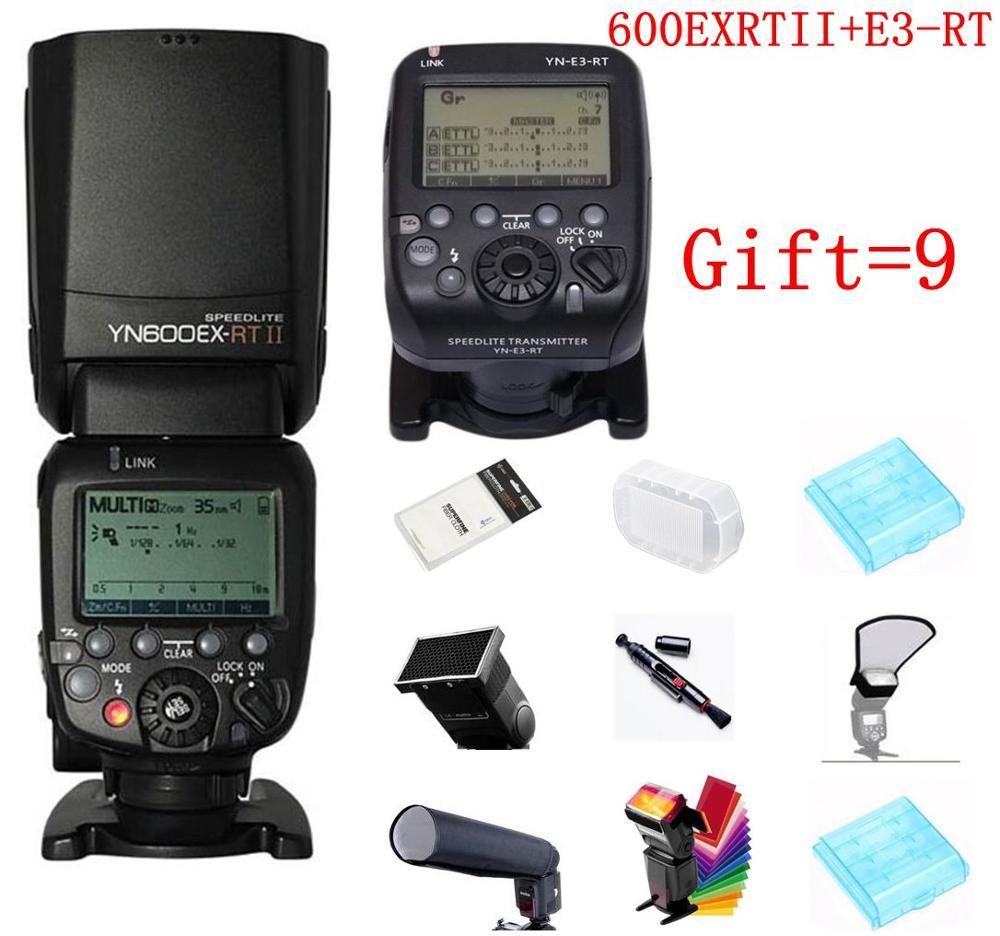 Быстрая доставка YONGNUO yn600ex rt II + yn e3 rt мастер Вспышка Speedlite для Canon RT Радио триггер Системы 5D3 5DII 60D 550d 650D