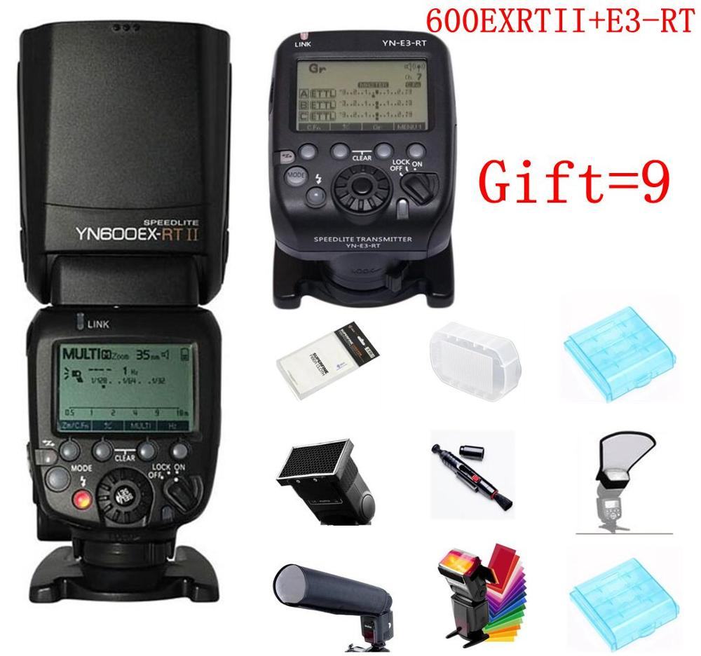 Fast Shipping YONGNUO YN600EX-RT II +YN-E3-RT Master Flash Speedlite for Canon RT Radio Trigger System 5D3 5DII 60d 550d 650d yongn yn e3 rt ttl radio trigger speedlite transmitter as st e3 rt for canon 600ex rt new arrival