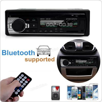 JSD 520 MP3 Player Radio 12V Bluetooth V2.0 Car Audio Stereo In-dash With Remote Control FM Radio Receiver Preset 18 Stations image