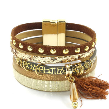 Layered-Multi-Texture-Leather-Charm-Bracelets-with-a-Bohemian-Flare-1