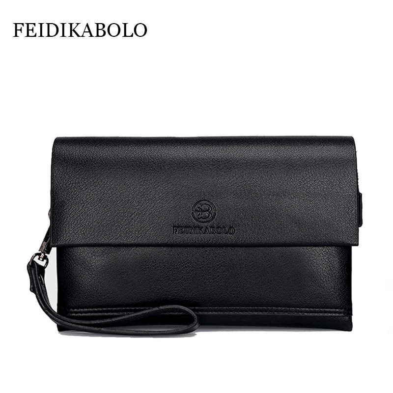 FEIDIKA BOLO Brand Wallet Men Clutch Bag Fashion Leather Purse carteras Men's Handy Bags Purse Business Man Monederos Wallets 2016 famous brand new men business brown black clutch wallets bags male real leather high capacity long wallet purses handy bags