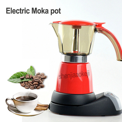 480w Electrical Espresso Moka Pot Coffee Percolators Italian Mocha Maker Home Coffee pot for 6 people 220-240v 1pc