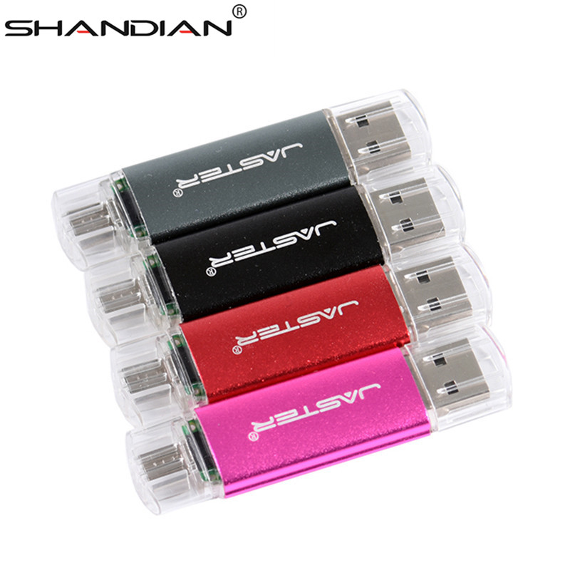 SHANDIAN OTG USB Flash Drive High Speed Pen Drive 64gb 32gb 16gb 8gb 4gb External Storage Pendrive Double Use USB Stick(China)