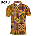 FORUDESIGNS Summer short-sleeve shirt male big size 3XL stand collar short sleeve polo african print short-sleeve men's clothing