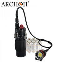 ARCHON WH108 DH102 Led Diving Flashlight Dive Video Light Canister Underwater Torches 26650*10 Battery (one light head only)