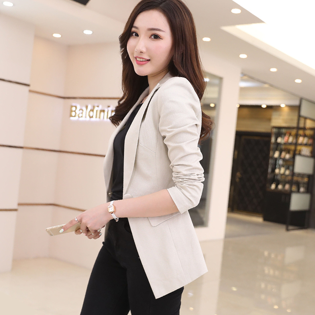 5227b160a7d6 Small suit female jacket long fashion spring and autumn new Korean ...
