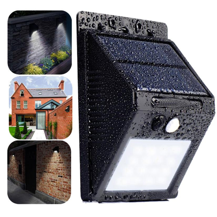 Solar Rechargeable LED 1PCS 20 LED Solar Power PIR Motion Sensor Wall Light Outdoor Garden Waterproof Lamp Purchasing wholesale
